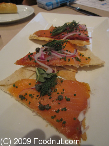LB Steak Santana Row San Jose Salmon Pizette