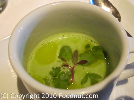 La Folie San Francisco amuse Bouche Pea soup