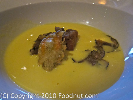 La Folie San Francisco corn soup