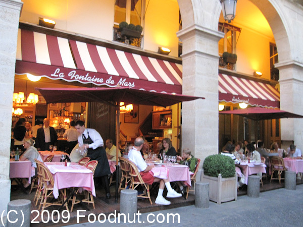 La fontaine de mars restaurant review paris france for Restaurant cuisine francaise paris