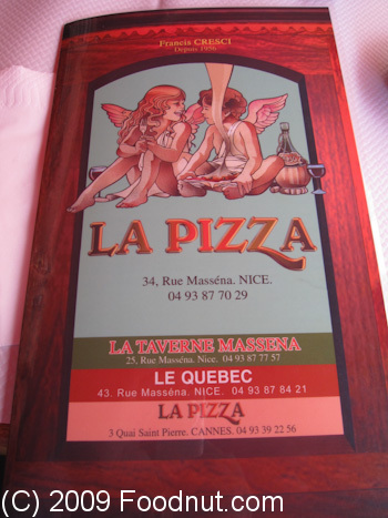 La Pizza Nice France Menu 5