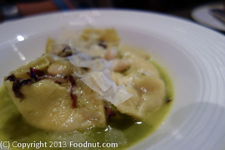 La Toque Napa red pepper ravioli