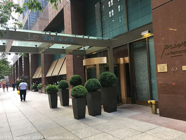 Le Bernardin New York exterior decor