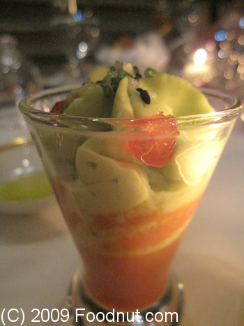 Le Cinq Paris France Amuse Bouche Avocado Puree