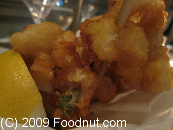 Le Cinq Paris France Amuse Bouche Fried Calamari