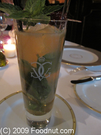 Le Cinq Paris France Mojito Cocktail