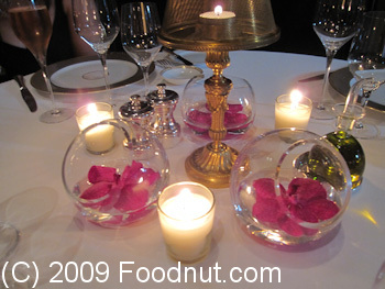 Le Cinq Paris France Table Decorations