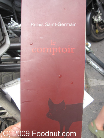 Le comptoir relais saint germain Paris France Menu 9