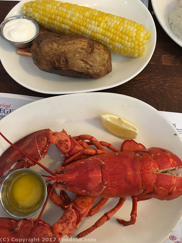 Legal Seafood Chestnut Hill Steamed Lobster