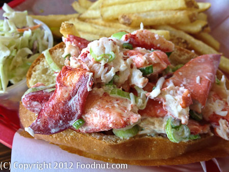 Lobster Shack Redwood City Maine lobster roll sandwich