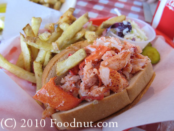 Lobster Shack Redwood City lobster roll sandwich