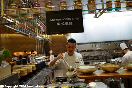 MGM Macau Rossio buffet Chinese noodle soup