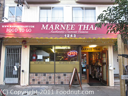 Marnee Thai Restaurant San Francisco Ca