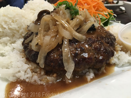 Da Kitchen Kahului Maui Hamburger Steak Plate Lunch