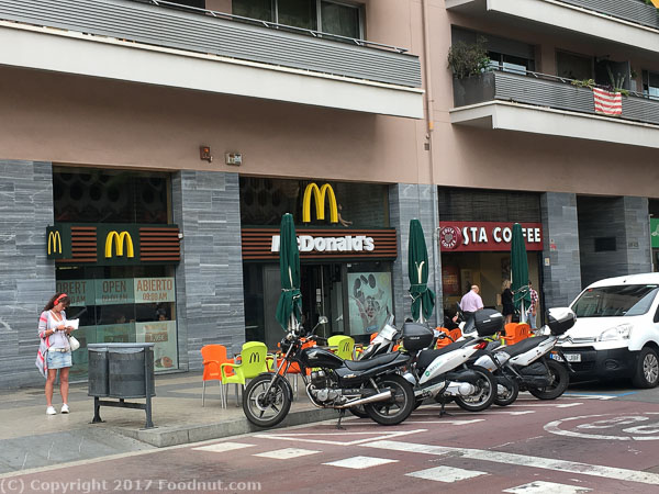 McDonalds Sagrada Familia Barcelona Spain 2017