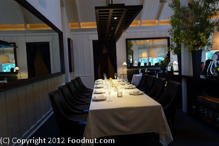 Restaurant at Meadowood St Helena interior decor