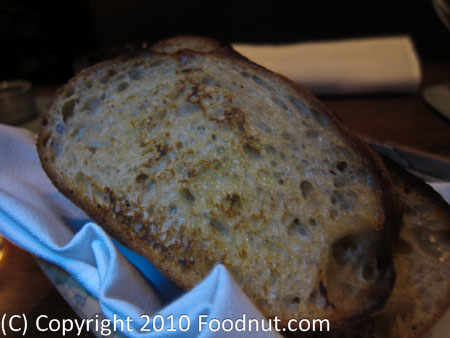 Michael Mina San Francisco grilled sourdough bread