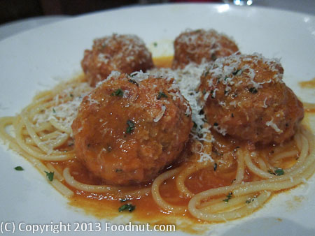 Moodys Bistro and Lounge Truckee Spaghetti and Meatballs