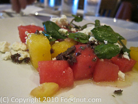 Osteria Coppa San Mateo watermelon salad