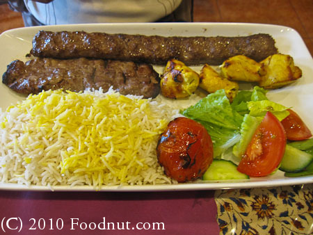 Paradise Kabab House Redwood City Beef Chicken Kabab Combo