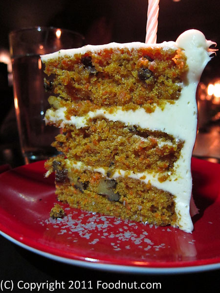 Park Tavern San Francisco Carrot Cake
