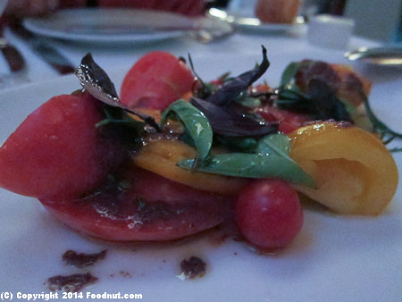 Perbacco San Francisco heirloom tomato salad