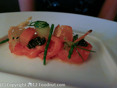 Quince San Francisco King Salmon Crudo