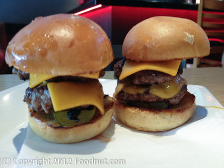 Rave Burger San Mateo Cheese Sliders