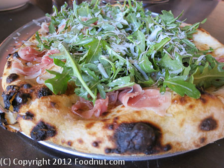 Redd Wood Yountville prosciutto pizza