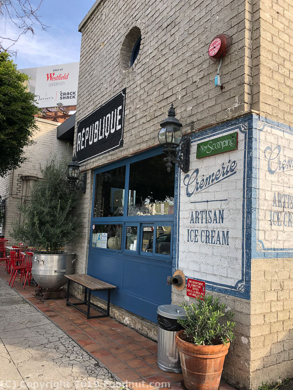 Republique Los Angeles exterior decor