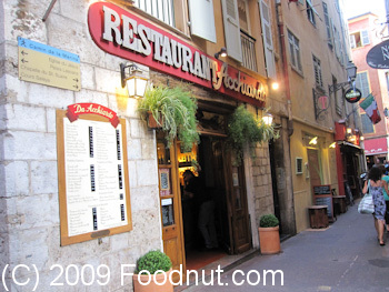 Restaurant Acchiardo Nice France Exterior Decor