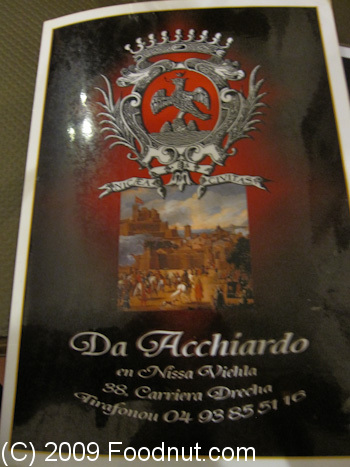 Restaurant Acchiardo Nice France Menu 6