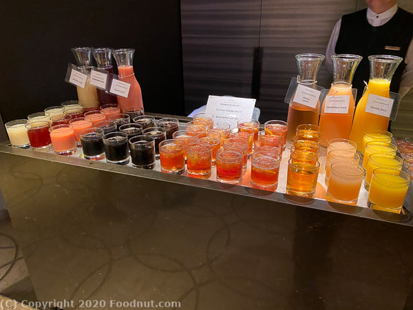 Ritz Carlton Singapore Colony Buffet Juices