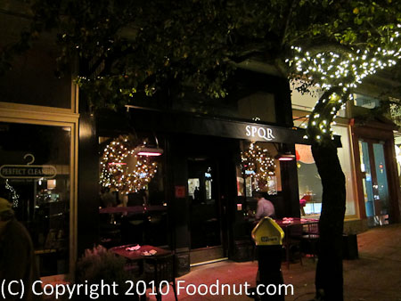 SPQR Restaurant Review, San Francisco