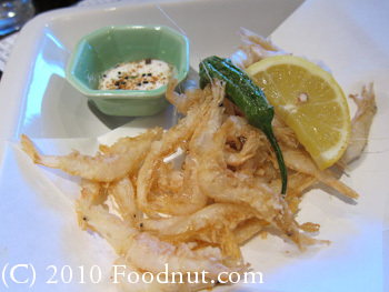 Sakae Sushi Burlingame deep fried small white shrimp toyama