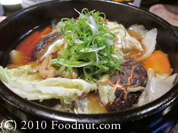 Sakae Sushi Burlingame seafood chicken vegetables Clay pot
