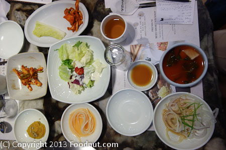 Samwon Garden Seoul banchan small dishes