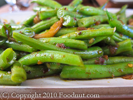 Slanted Door San Francisco green beans