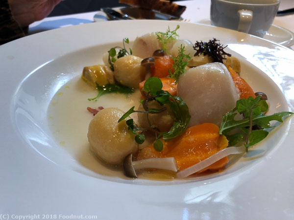 Spruce San Francisco poached halibut