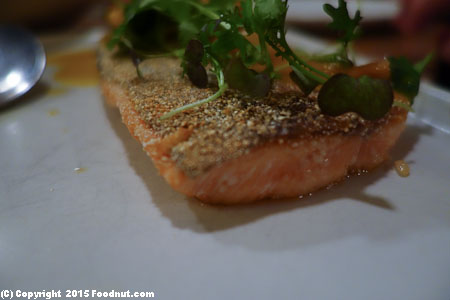 State Bird Provisions San Francisco red trout with toasted hazelnut mandarin garum vinaigrette
