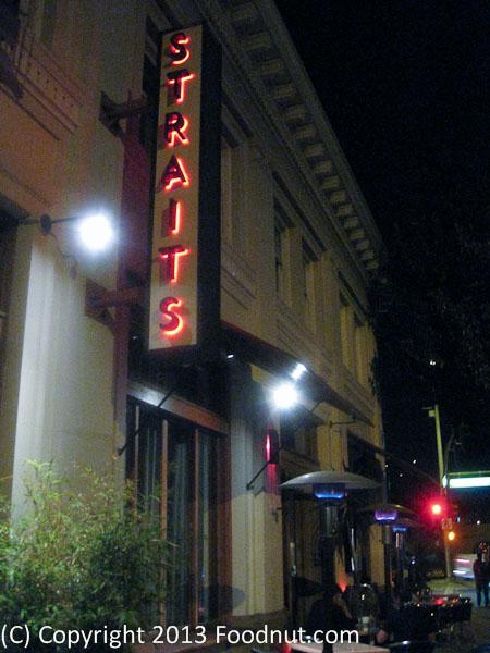 Straits Restaurant Santana Row Burlingame