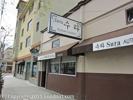 Sura Restaurant Oakland exterior decor