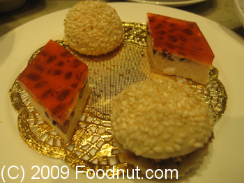 Taiwan Hotel Imperial Restaurant Beijing China Jello and Mini Burgers