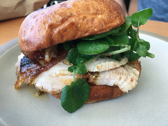 Tartine Manufactory Porchetta sandwich