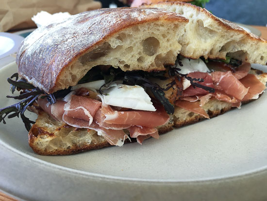 Tartine Manufactory proscuitto sandwich