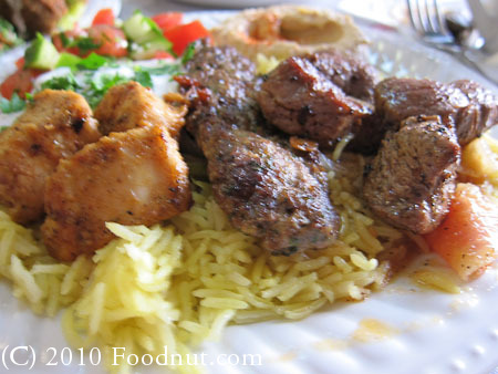 Taste In Burlingame combo mixed grill kebab platter