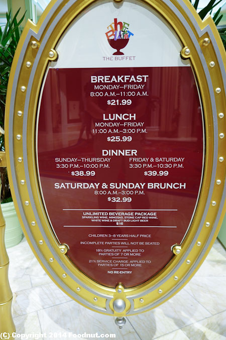 Wynn Buffet The Buffet at The Wynn Las Vegas : Wynn Buffet Las Vegas menu 1 from www.foodnut.com size 450 x 675 jpeg 150kB