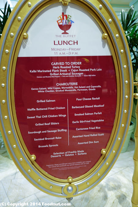 bellagio brunch menu