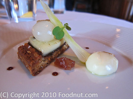 The French Laundry Yountville Abbay De Tamie Cheese Onion Tart