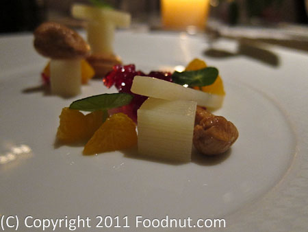 The French Laundry Yountville hearts of Palm salad